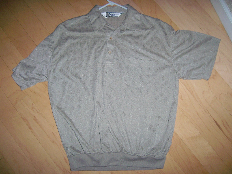 Men's Short Sleeve Upper Left Pocket Light Tan XXL Polo Shirt BNK1384