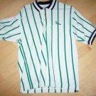 Men's Golf Shirt  XLTall White Green Stripes BNK1386