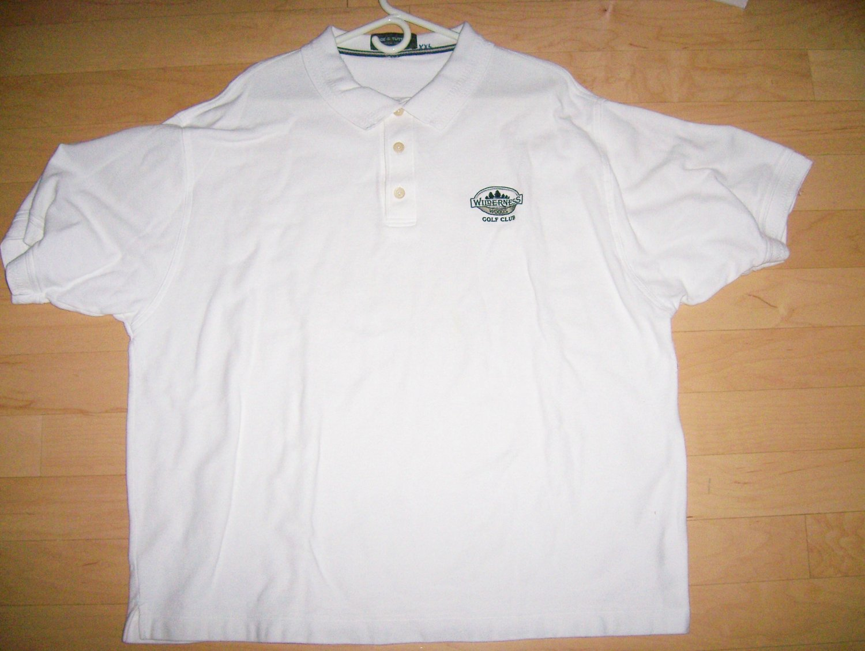 Men's XXL White Golf Shirt By Page & Tuttle  BNK1385