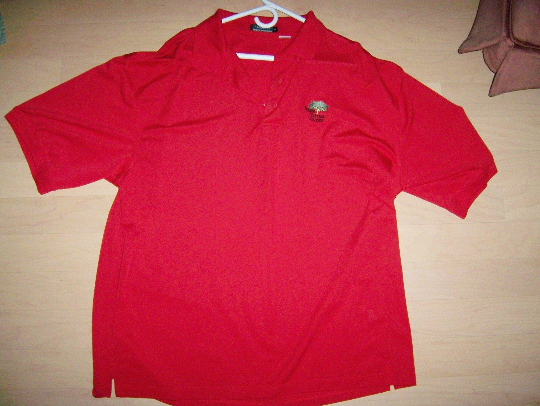 Men's Golf Shirt Red XL By Monterey BNK1389