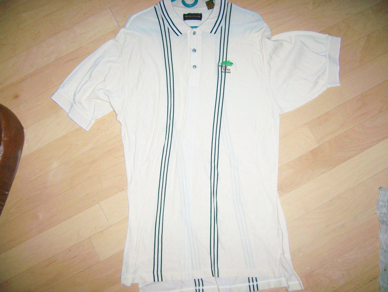 Men's Golf Shirt Yellow W Blk Stripes XL By Izod Club  BNK1395