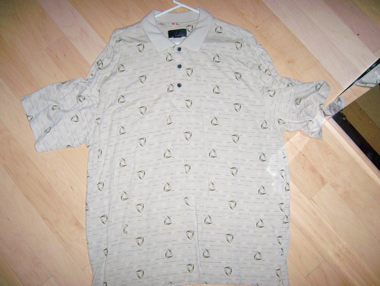 Men's Tan Golf Shirt XLTall By JF J.Ferrar BNK1387
