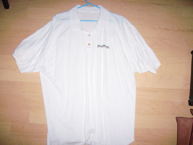 Men's Golf Shirt XXL James Monroe White w Logo BNK1397