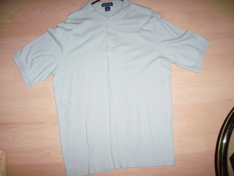 Men's Golf Shirt By Lands End Light Green XL Tall BNK1398