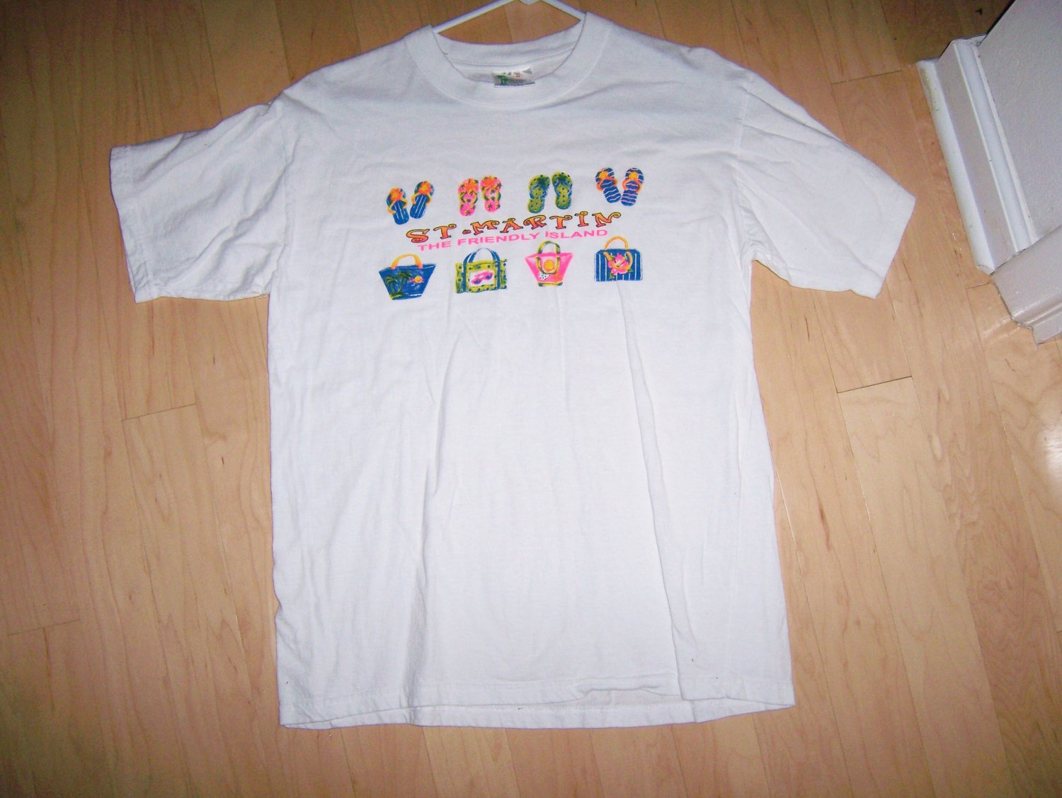Short Sleeve Shirt White By Caribbeant's Large BNK1409