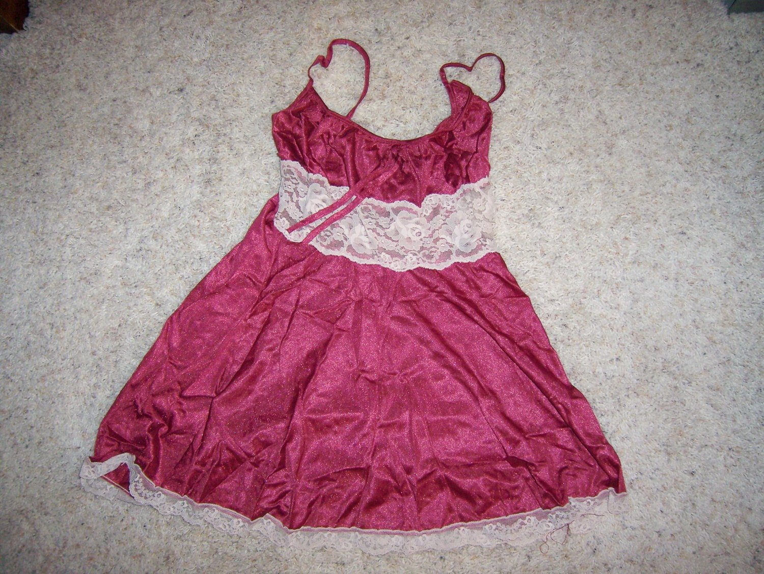 Camisole Light Burgandy Nylon And Lace BNK1427