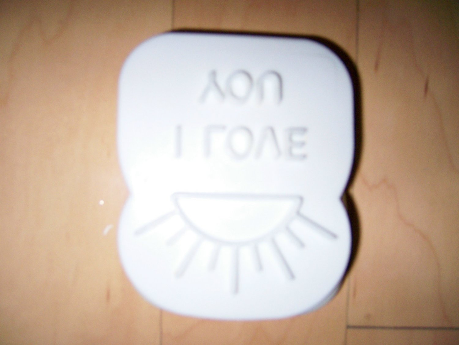 I Love You  Stencil Toast Size W Magnet  BNK1433