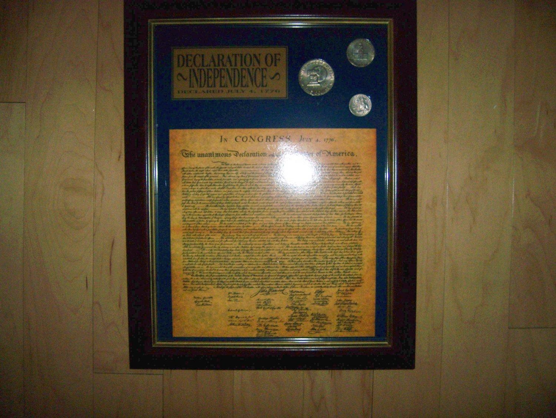 The United States Declaration Of Independance Framed BNK1445