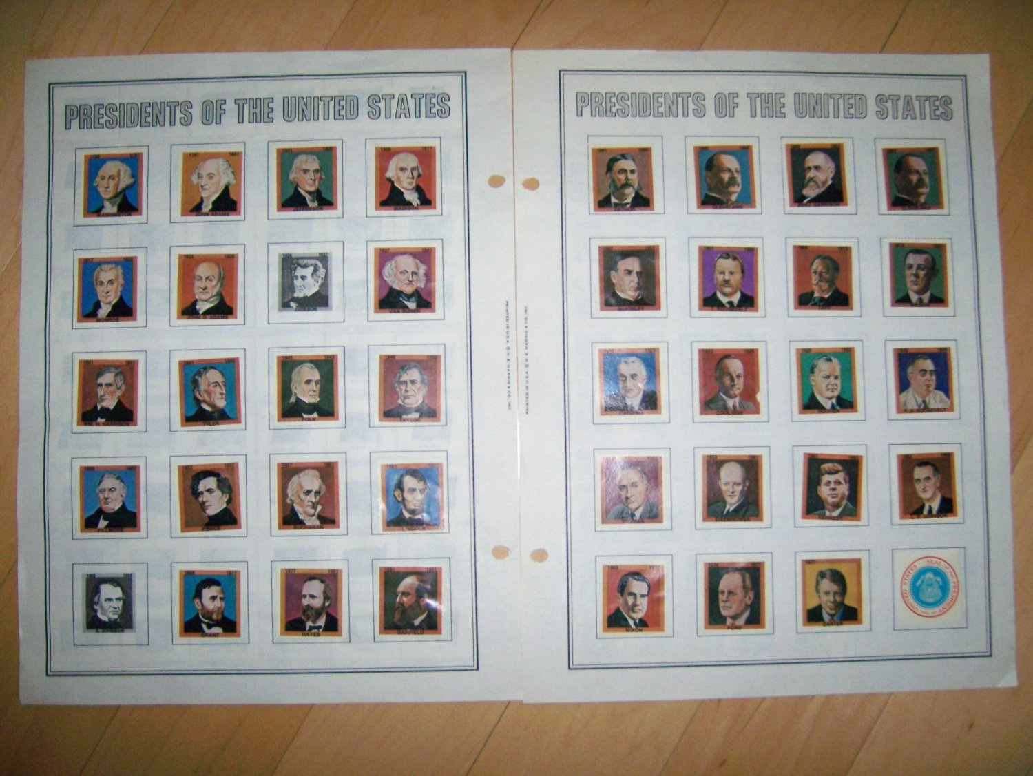 Stamps And Pictures Of States & Presidents  BNK1449