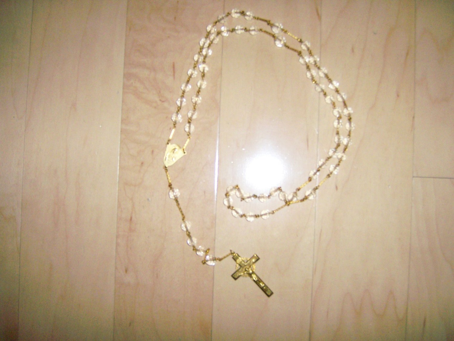 Rosary Clear Tone Crystal Beads  BNK1452