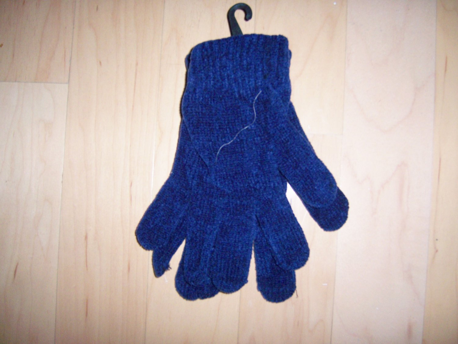 Mittens Chenille Acrylic Fits All Unisex  Navy  BNK1477
