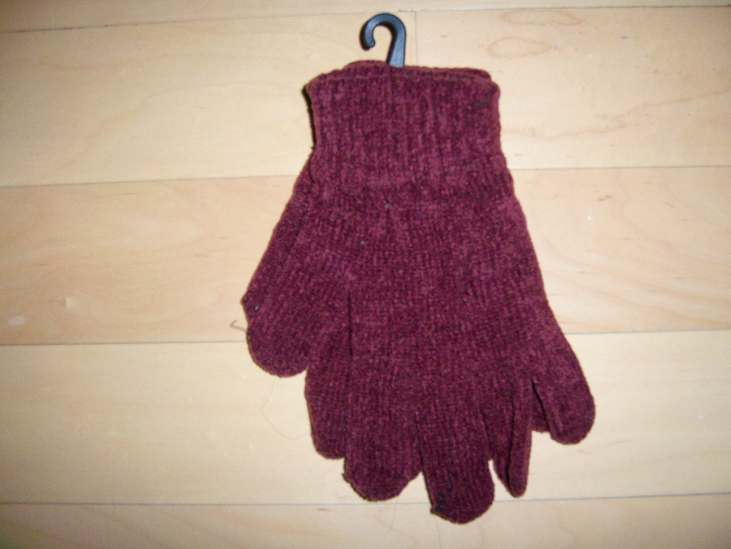 Gloves Chenille Acrylic  Red One Size Fits All Unisex BNK1479