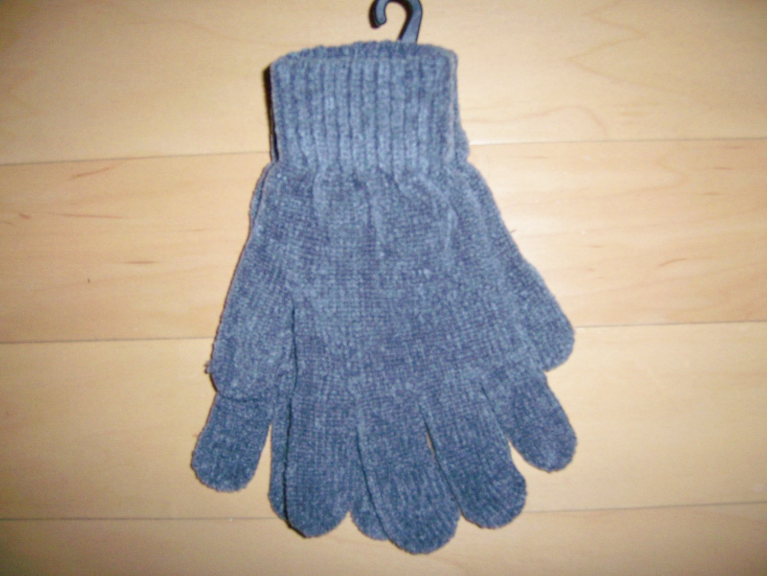 Gloves Chenille Acrylic  Gray One Size Fits All Unisex BNK1480