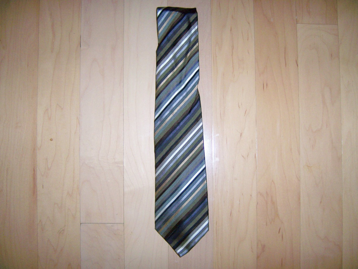 Tie Brown/Grey/White/Black Striped Tie  By Dockers BNK1488