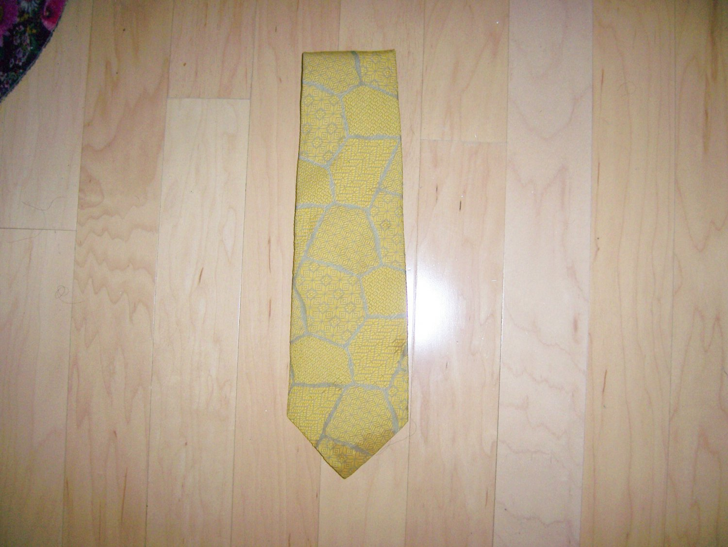 Tie Gold And Grey By Velducci   BNK1490