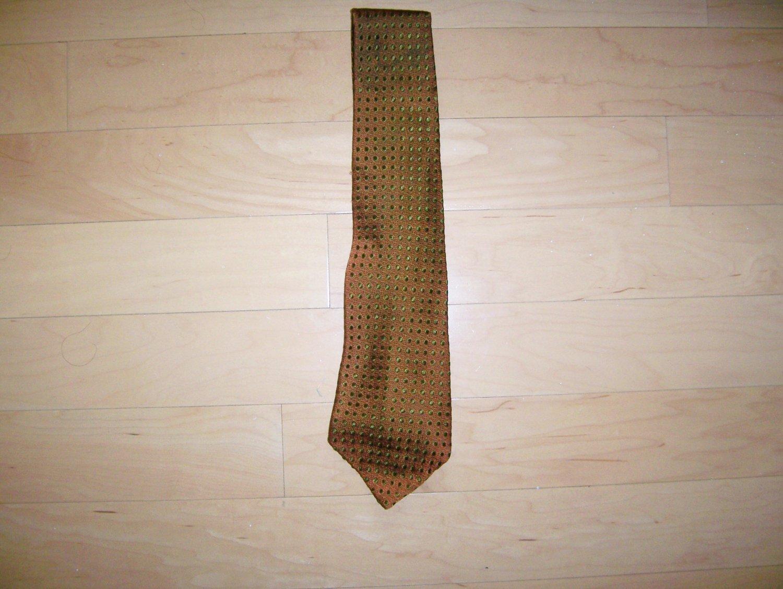 Tie Reddish Brown With Black Dots By Wm M Frazin Custom Made BNK1491