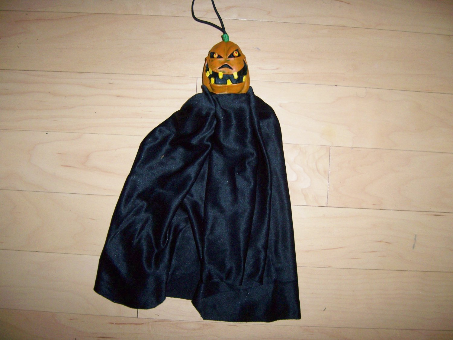 Angry Hanging Pumpkin With Black Flowing Skirt BNK1543
