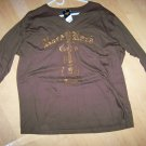 Hard Rock 3/4 Sleeve Brown With VNeck XXL  BNK1551