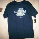 Hard Rock Shirt Black W Silver & Gold Logo Large  BNK1556