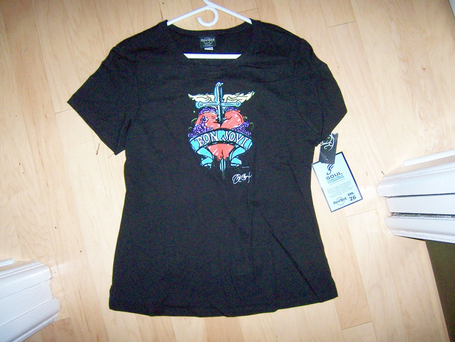 Hard Rock Shirt Black Sig.26 Bon Jovi Series Large BNK1566