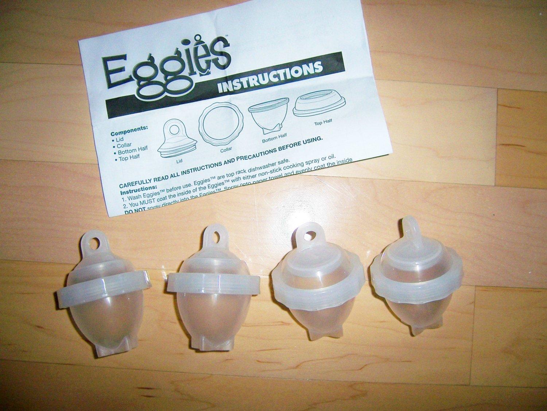 Eggies Set Of Four Egg No Fail Cooking  BNK1583