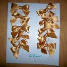 Presents Bows Set Of Ten Gold Color BNK1592