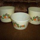 Set Of Three Musroom Design Decorated Bowls BNK1593