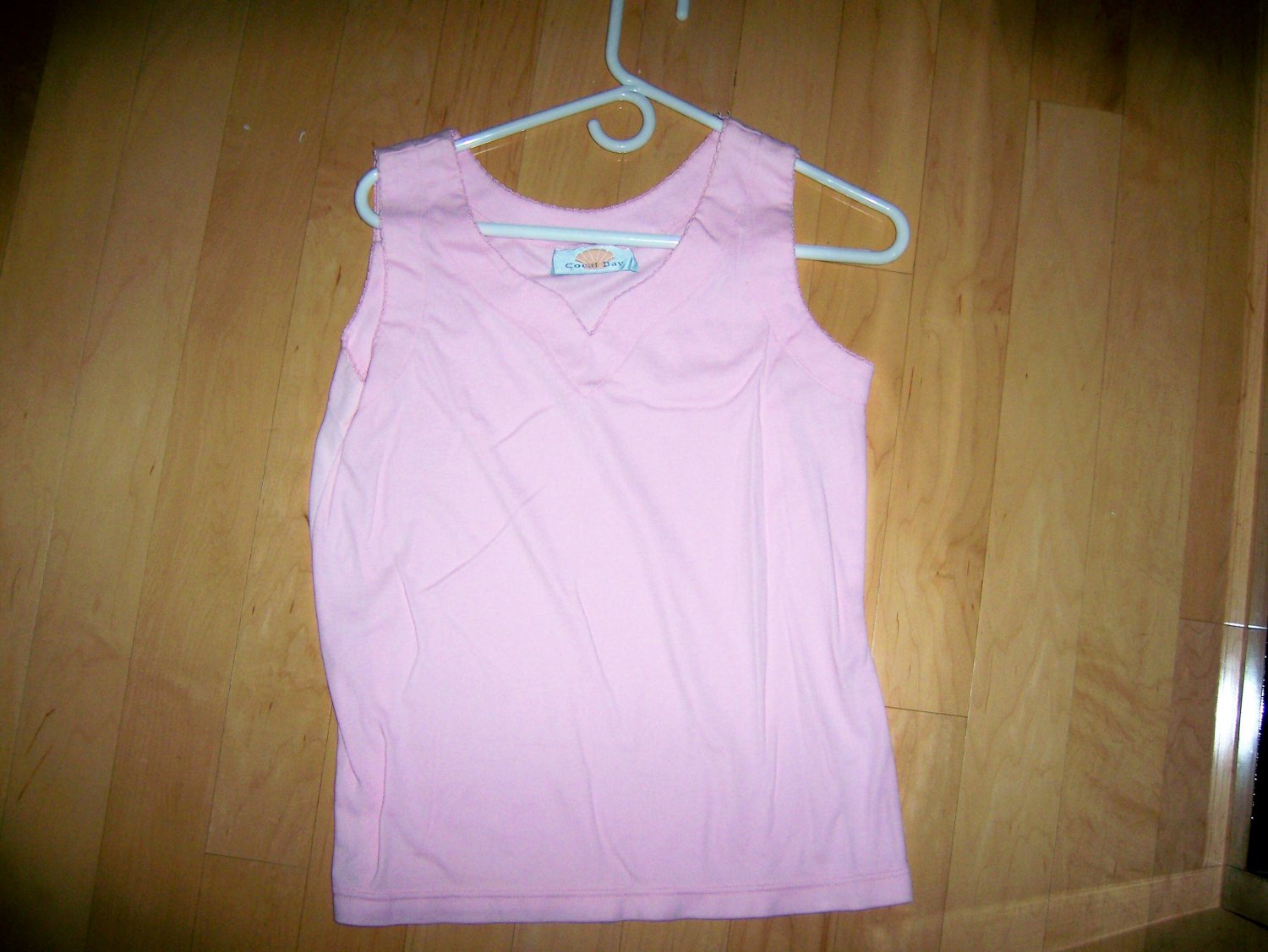 Ladies Tank Top Pink By Coral Bay Cotton Size 10  BNK1621