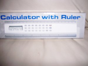 Hand Calculator With Ruler  BNK1956