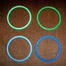 Bangle Bracelets Set Of Four  Green & Blue  BNK1968