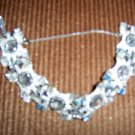 Silver W Saphire And Topaz Stones Bracelet  BNK1975