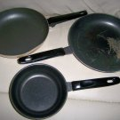 Set Of Three Frying Pans  Teflon Coating  BNK2039