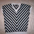 Ladies/Misses Black/White Sleeveless Top Size 32 BNK2124