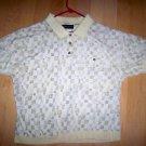 Men's Shirt Light Yellow W Pattern  Size 18 Neck BNK2187