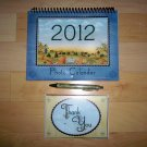 2012 Calendar With Photo Pockets & 8 NotecardsW Envelopes BNK2209