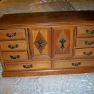 Jewelry Box Walnut Wood W 11 Drawers  BNK2252