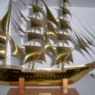 Brass Ship Display With Name Tag Sagre Portugal 1937 BNK2366