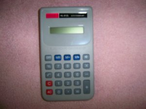 Calculator Hand Held  HL-812L With Instructions  2573