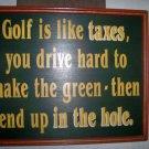Golf Wall Plaque   BNK2683