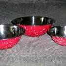 Red/Stainless Steel Serving Bowls   BNK2697