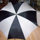 "Umbrella Black And White 35"" Open  BNK2816"
