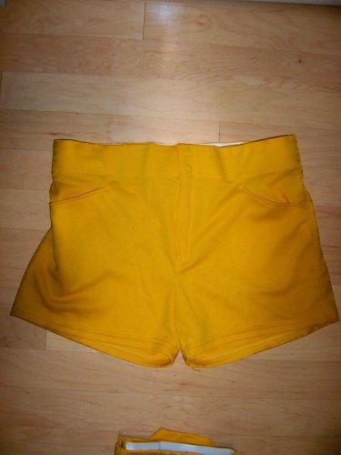 "Men's Bike Shorts Yellow Size 38  17"" Long   BNK2849"