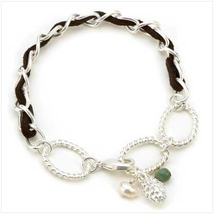 Big Sky Silver Acorn Bracelet