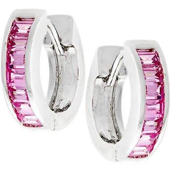 Popping Pink Emeralds Earrings
