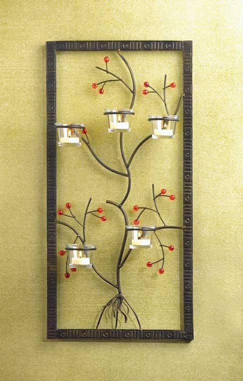 Framed Metal Tree Candleholder