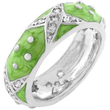 Light Green Boogie Down Enamel Ring