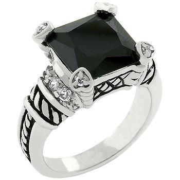 Jet Black Eyes Ring