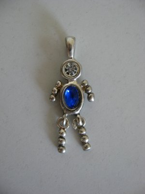 Silver Birthstone Blue Emerald Male People