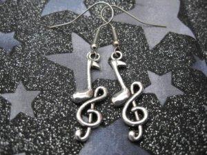 G-Clef Musical Note Earrings
