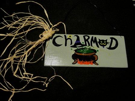 Charmed Cauldron Sign Plaque